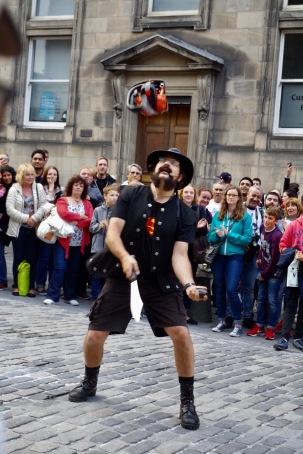 Straßenkünster in Edinburgh